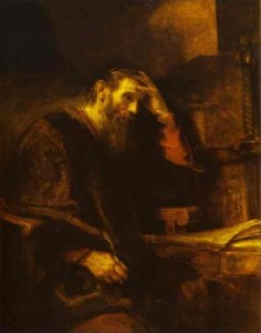 Paul at His Writing Desk - Rembrandt